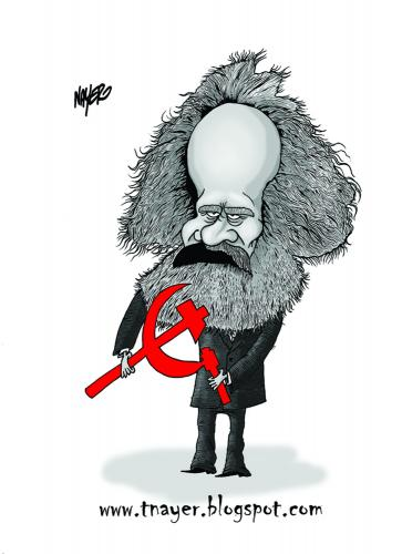 Cartoon: Karl Marx (medium) by Nayer tagged germany,marxism,marxist,revolutionar,communism,marx,karl