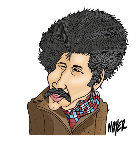 Cartoon: Marin Sorescu (medium) by Nayer tagged marin,sorescu,romanian,romania,novelist,playwright