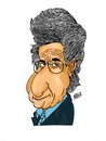 Cartoon: A. B. Yehoshua (small) by Nayer tagged yehoshua,israel,writer,talal,nayer,sudan,novelist