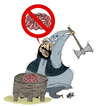 Cartoon: Extremism (small) by Nayer tagged perception,religious,extremism,religion,god,islam,talban
