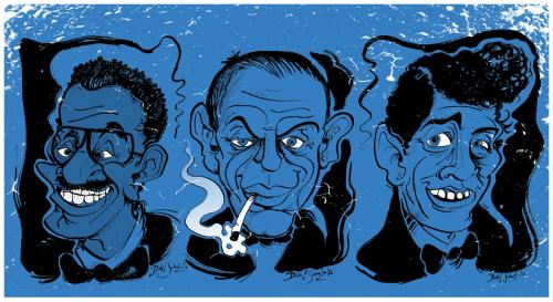 Cartoon: Ratpack (medium) by Dirk ESchulz tagged rat,pack,rat pack,ratpack,sammy davis jr,frank sinatra,dean martin,sänger,60s,peter lawford,joey bishop,las vegas,show,showbusiness,sands hote,kasino,casino,spielbank,glücksspiel,oceans eleven,bühne,bühnenshow,soloshow,auftritt,vorstellung,unterhaltung,entertainer,spießgeselle,portrait,karikatur,hommage,illustration,rat,pack,sammy,davis,jr,frank,sinatra,dean,martin,peter,lawford,joey,bishop,las,vegas,sands,hote,oceans,eleven