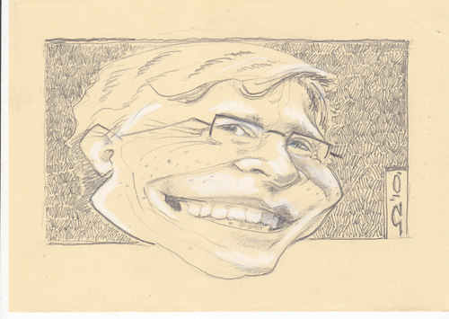 Cartoon: Bill Gates (medium) by zed tagged bill,gates,seattle,usa,microsoft,richest,business,filantrop,portrait,caricature
