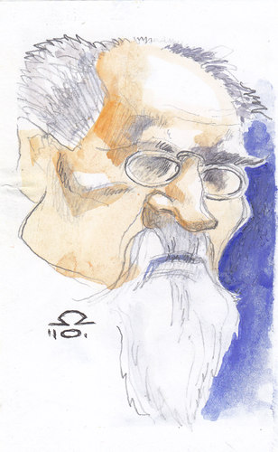 Cartoon: Emile Zola (medium) by zed tagged emile,zola,writer,paris,france,jaccuse,portrait,caricature