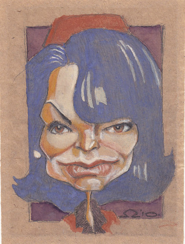 Cartoon: Jackie Kennedy (medium) by zed tagged jackie,kennedy,new,york,usa,first,lady,famous,people,portrait,caricature