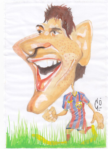 Cartoon: Lionel Messi (medium) by zed tagged lionel,messi,football,argentina,spain,barcelona,portrait,caricature,famous,people