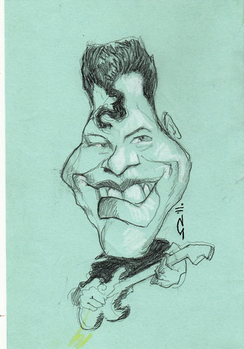 Cartoon: Ritchie Valens (medium) by zed tagged ricardo,esteban,valenzuela,reyes,usa,singer,musician,rock,and,roll,portrait,caricature