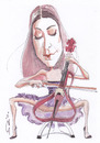 Cartoon: Ana Rucner (small) by zed tagged ana,rucner,croatia,musician,violoncello