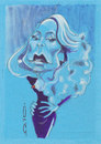 Cartoon: Jerry Hall (small) by zed tagged jerry,hall,usa,actress,model,rock,and,roll,portrait,caricature