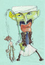 Cartoon: just a bad dream (small) by zed tagged just,bad,dream,osama,obama,usa,terrorism,world,war,politician,caricature