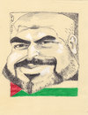 Cartoon: Leader Khaled (small) by zed tagged khaled,meshaal,palestine,gaza,hamas,politician,portrait,caricature