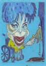 Cartoon: Liz Taylor (small) by zed tagged liz taylor usa movie actress oscar film hollywood portrait caricature