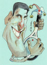 Cartoon: nole (small) by zed tagged novak,djokovic,serbia,tennis,sport,portrait,caricature