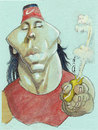 Cartoon: rafa (small) by zed tagged rafael,nadal,spain,tennis,sport,portrait,caricature