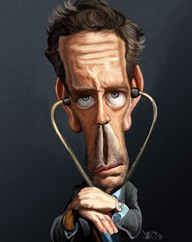 Pictures Celebrity Houses on Dr  House Caricature By Caricaturas   Famous People Cartoon   Toonpool
