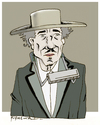 Cartoon: Bob Dylan (small) by firuzkutal tagged firuzkutal bobdylan dylan american legend tradition music nobelprize nobel blowing times changing