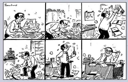 Office Work By B V Panduranga Rao Education Tech Cartoon Toonpool