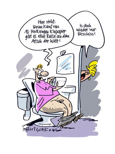 Der Arsch der Welt By Butschkow | Media & Culture Cartoon ...