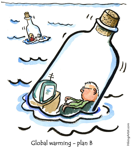 Cartoon: Life goes on (medium) by Frits Ahlefeldt tagged climate,global,warming,environment,nature,bottle,flood,funny,cartoon,humor,hikingartist,sea,lonelyness,isolation,island,message,dating,modern,middleage,television