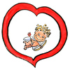 Cartoon: Happy Valentine (small) by Frits Ahlefeldt tagged heart,amor,amour,eros,valentine,love,passion