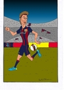 Cartoon: neymar (small) by kader altunova tagged brasilien,barcelona,neymar,fussball