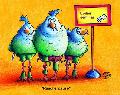Cartoon: Epilier-Seminar (medium) by Jupp tagged seminar,vogel,vögel,epilieren