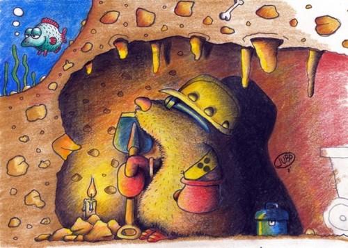maulwurf by jupp nature cartoon toonpool