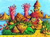 Cartoon: Alien Planet (small) by Jupp tagged maulwurf mole alien planet jupp bomm schnecke