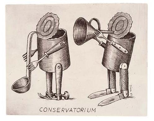 Cartoon: Conservatorium (medium) by Jiri Sliva tagged music,