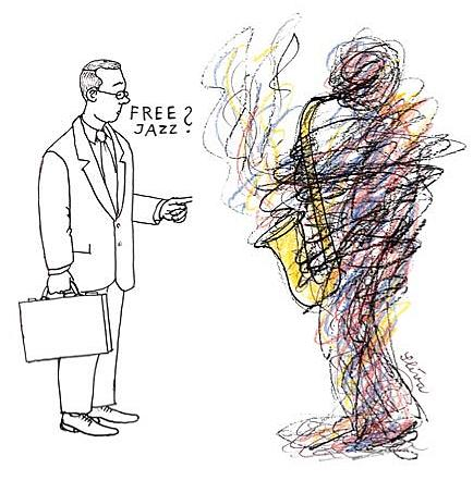 Cartoon: Free Jazz (medium) by Jiri Sliva tagged free,jazz