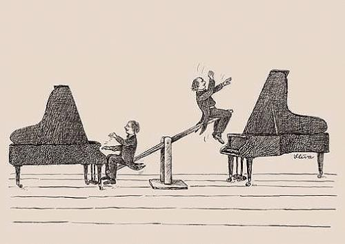 Cartoon: Playing (medium) by Jiri Sliva tagged music