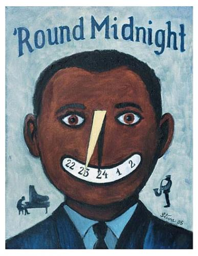 Cartoon: Round Midnight (medium) by Jiri Sliva tagged blues,music
