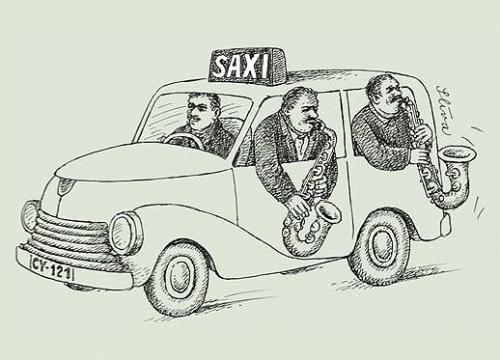 Cartoon: Saxi (medium) by Jiri Sliva tagged blues,music,jazz