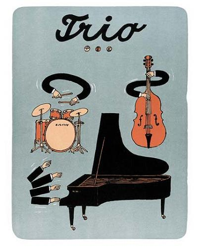 Cartoon: Trio (medium) by Jiri Sliva tagged blues,music