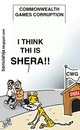Cartoon: Is this Shera!?? (small) by bamulahija tagged sports,cwg,corruption,cartoon,commonwealth,games,new,delhi