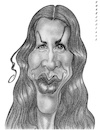 Cartoon: Alanis Morissette (small) by shar2001 tagged caricature,alanis,morissette,canada,singer