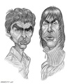 Cartoon: The Gallaghers (small) by shar2001 tagged caricature liam and noel gallagher