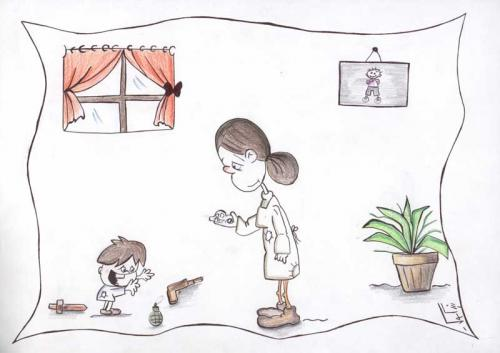 Cartoon: Children and Toys (medium) by nikooray tagged children,toys