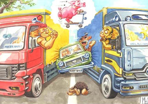 Cartoon: Trucker (medium) by herr Gesangsverein tagged trucker