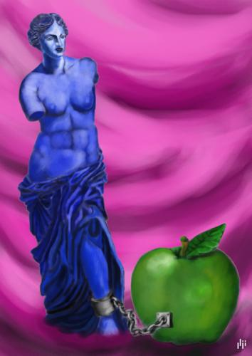 Venus and apple