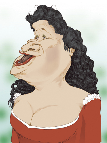 Cartoon: Cecilia Bartoli (medium) by Mattia Massolini tagged cecilia,bartoli,caricature,mezzosoprano