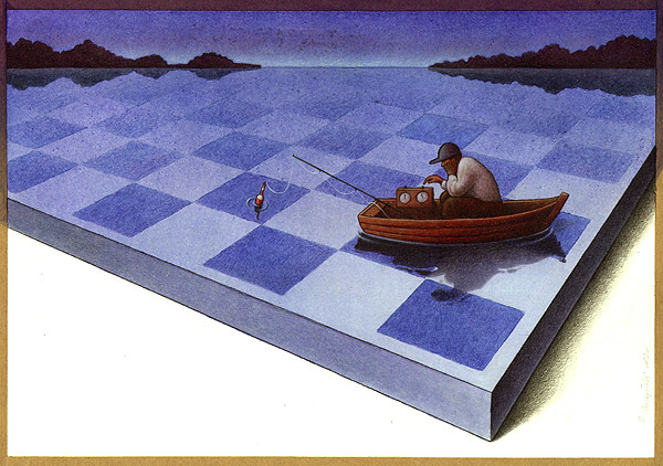 Cartoon: Chess (large) by pkuczy tagged chess