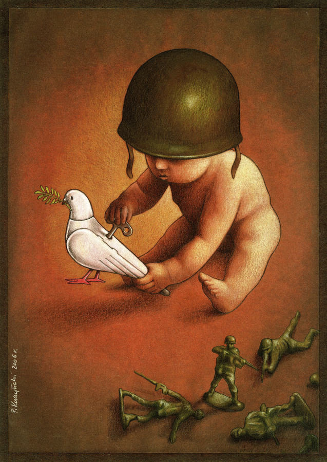 Cartoon: peace (large) by pkuczy tagged peace