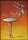 Cartoon: swan lake (small) by pkuczy tagged ballet