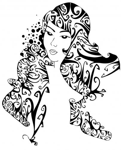 Cartoon: Curly woman complete (medium) by Playa from the Hymalaya tagged curly,woman