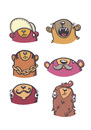 Cartoon: Bear character Heads Pt. 2 (small) by Playa from the Hymalaya tagged bär,bear,bären,bears,charaktere,characters,comic