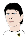 Cartoon: Mario Gomez (small) by Playa from the Hymalaya tagged mario gomez deutsche nationalmannschatf german germany national team dfb fußball fussball football soccer world cup wm 2010 spieler player stürmer striker sport fc bayern münchen munich bundesliga