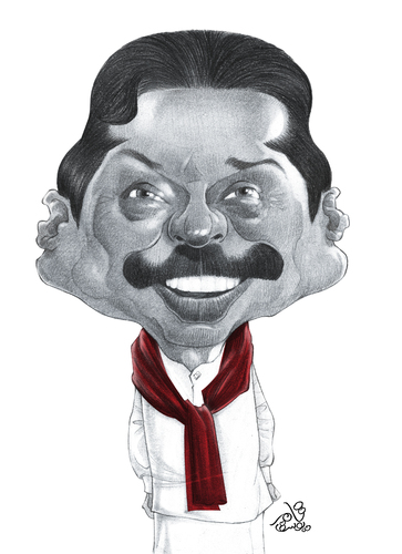 Cartoon: Manhinda Rajapaksa (medium) by tamer_youssef tagged manhinda,rajapaksa,sri,lanka,catoon,caricature,portrait,pencil,art,sketch,by,tamer,youssef,egypt