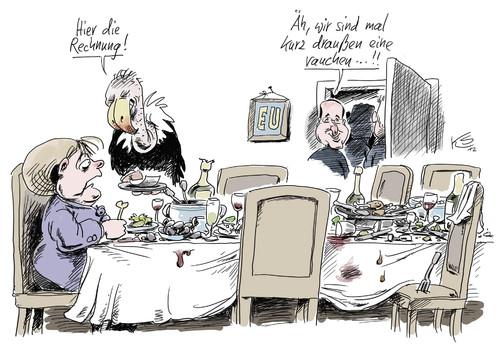 Die Rechnung By Stuttmann Politics Cartoon Toonpool