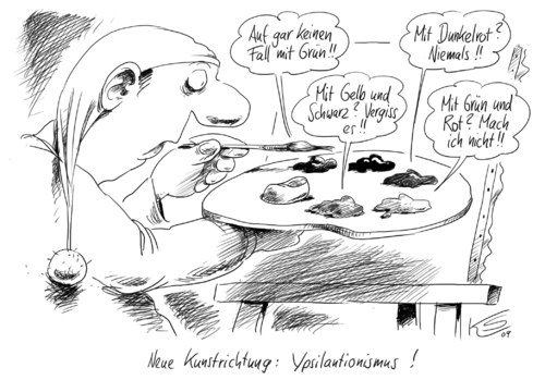 Farben By Stuttmann | Politics Cartoon | TOONPOOL