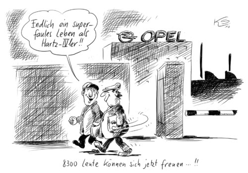 Cartoon: Faules Leben (medium) by Stuttmann tagged hartz4,bvg,urteil,opel,gm